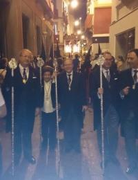 El Presidente del Ateneo y miembros de su Junta Directiva acompañaron a la Hermandad de Los Panaderos durante su estación de penitencia