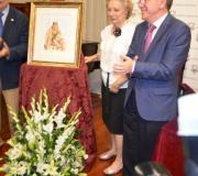 Presentado en el Ateneo el cartel anunciador del Día de la Virgen, obra póstuma del fallecido artista Daniel Puch