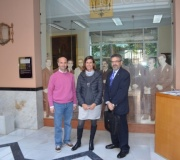 Visita al Ateneo de un grupo de estudiantes del Colegio Portaceli